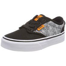 Vans Unisex-Kinder Atwood Slip-on Sneaker, Schwarz (Checkered Textile), 38 EU