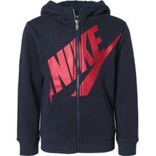 Nike Sportswear Fleecejacke 'Futura' navy / rot