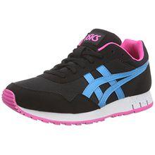 Asics Curreo, Unisex-Erwachsene Sneakers, Schwarz (Black/Atomic Blue 9039), 40.5 EU