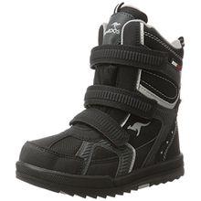 KangaROOS Unisex-Kinder Newdri Schneestiefel, Schwarz (Jet Black/Vapor Grey), 38 EU