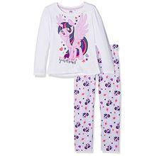 MON PETIT PONEY Mädchen Zweiteiliger Schlafanzug 161898, Weiß (White/Pastel Lilac(14-3812 Tcx), 8 Jahre/128 cm