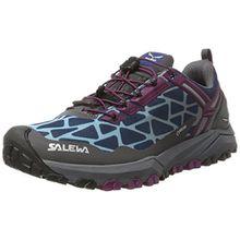 Salewa Damen WS Multi Track Gore-Tex Trekking-& Wanderhalbschuhe, Mehrfarbig (Magenta Purple/Dark Denim), 42 EU