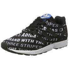 adidas Unisex-Kinder ZX Flux Sneaker Low Hals, Schwarz (Core Black/Core Black/FTWR White), 37 1/3 EU