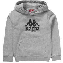 KAPPA Hoodie 'TAINO' grau / schwarz