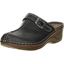 Vista Damen Pantoletten Clogs schwarz, Größe:39, Farbe:Schwarz