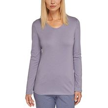 Schiesser Damen Schlafanzugoberteil Mix & Relax Shirt 1/1 Arm, Gr. 36, Grau (hellgrau 204)