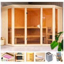 KARIBU Sauna »Cassidy«, 231x231x198 cm, 9 kW Ofen, versch. Ausführungen