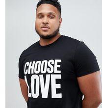 Help Refugees Choose Love Plus - Schwarzes T-Shirt aus Bio-Baumwolle - Schwarz