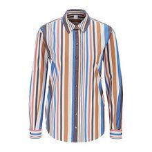 Regular-Fit Bluse aus Stretch-Popeline mit Längsstreifen