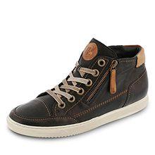 Paul Green 4242-218 Damen Sneaker Schnürung und Reißsverschluss Sportive Sohle, Groesse 6, Schwarz