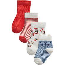 Baby Socken 4er Pack  weiß Mädchen Baby