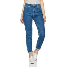 Lee Damen Jeanshose Mom Tapered, Blau (Acid Stone KW), W29/L33 (Herstellergröße: 29)