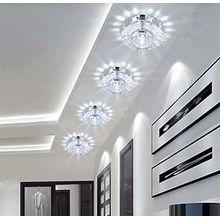 3W LED Deckenleuchte Kristall Flurlampe Deckenlampe Weiß 10cm X 4cm