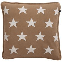 GANT Home 10 Stars Knit Kissenhülle 50x50 dry sand