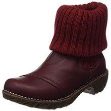 El Naturalista S.A N097 Soft Grain Yggdrasil, Damen Kurzschaft Stiefel, Rot (Rioja), 42 EU