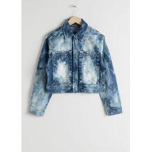Tie Dye Organic Cotton Denim Jacket - Blue