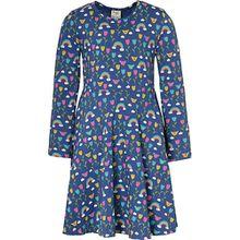 Kinder Sweatkleid, Organic Cotton blau Mädchen Kleinkinder