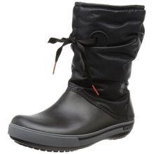 crocs Crocband II.5 Lace Boot W, Damen Halbschaft Schlupfstiefel, Schwarz (Black), 36/37 EU (4 Damen UK)