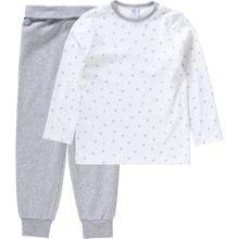 SANETTA Baby Schlafanzug aus Organic Cotton graumeliert / weiß