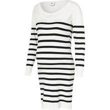 MLANGA NELL L/S KNIT DRESS NF - Umstandskleider - weiblich weiß Damen Kinder