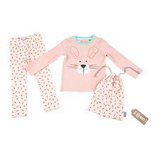 Sigikid Mädchen Zweiteiliger Schlafanzug Pyjama, Mini, Rosa (Blossom 647), 104