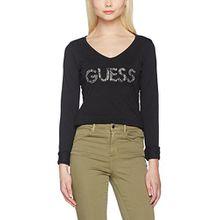 Guess Damen T-Shirt W64I44J1300, Nero (Noir/Jet Black A996), S
