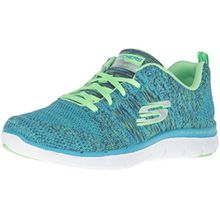 Skechers Damen Flex Appeal 2.0High Energy Sneakers, Blau (Bllm), 40 EU