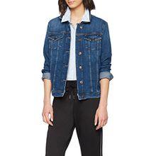 Tommy Jeans Damen Jeansjacke Tjw Vivianne Slim Trucker Jacket, Blau (Denver Dark Blue Comfort 911), Large