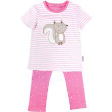 SIGIKID Schlafanzug rosa / naturweiß
