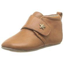 Bisgaard Unisex Baby Velcro Star Pantoffeln, Braun (66 Cognac), 27 EU