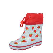 BECK Kinder Gummistiefel Erdbeere für Mädchen blau / rot