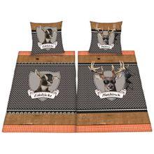 Herding 445958250 Partner-Bettwäsche Platzhirsch/Edelzicke im Doppelpack
