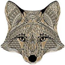 "Wandtattoo ""Fuchs"" 40x40 cm beige"