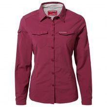 Craghoppers - Women's Nosilife Adventure L/S Shirt - Bluse Gr 10;12;14;16;18;20;8 weiß/grau;grau;grau/weiß;grau/oliv;beige/orange;grün;rot/rosa