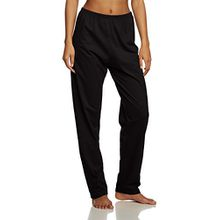 Trigema Damen Schlafanzughose 537092, Einfarbig, Gr. 40 (Herstellergröße: M), Schwarz (schwarz 008)