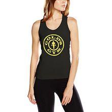 Golds Gym Damen Sporttop Muscle Joe Ladies Fitted Premium Muscleback Vest, Schwarz (Black Black), XS