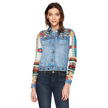 Desigual Damen Jeansjacke CHAQ_FIORELLA, Blau (Denim Medium Light 5160), 46