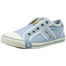 Mustang 5803-405-832, Unisex-Kinder Sneakers, Blau (832 pastellblau), 33 EU