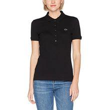 Lacoste Damen Poloshirt Pf7845, Schwarz (Noir), 42 (Herstellergröße: 42)