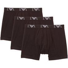 Emporio Armani Herren Boxershorts, Mens Knit 3 Pack Boxe, GR. Large (Herstellergröße: L), Schwarz (Nero)