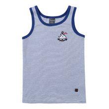 SCHIESSER Unterhemd blau / weiß