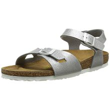 BIRKENSTOCK Rio Unisex-Kinder Sandalen, Silver (Magic Galaxy Silver), 34 EU/4 UK