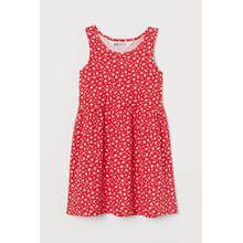 H & M - Gemustertes Jerseykleid - Red - Kinder