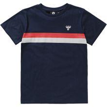 Hummel T-Shirt nachtblau / rot / weiß