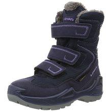 Lowa Unisex-Kinder Milo GTX Trekking-& Wanderstiefel, Blau (Navy/Lila), 35 EU