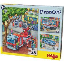 Puzzles - 12/15/18 Teile - Polizei, Feuerwehr & Co.