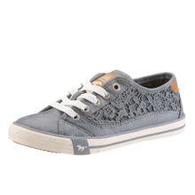 MUSTANG Sneaker mit Spitze himmelblau / bronze / weiß
