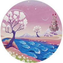 Lovely Kids Kinderteppich Märchen Schloß, rund, 100 cm rosa