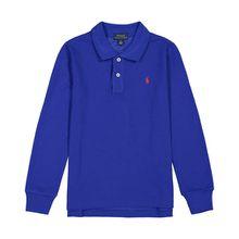 Polo Ralph Lauren Jungen-Langarm-Polo - Blau (2T, 3T, 5, 6, 7)