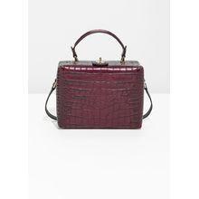 Box Croc Shoulder Bag - Red